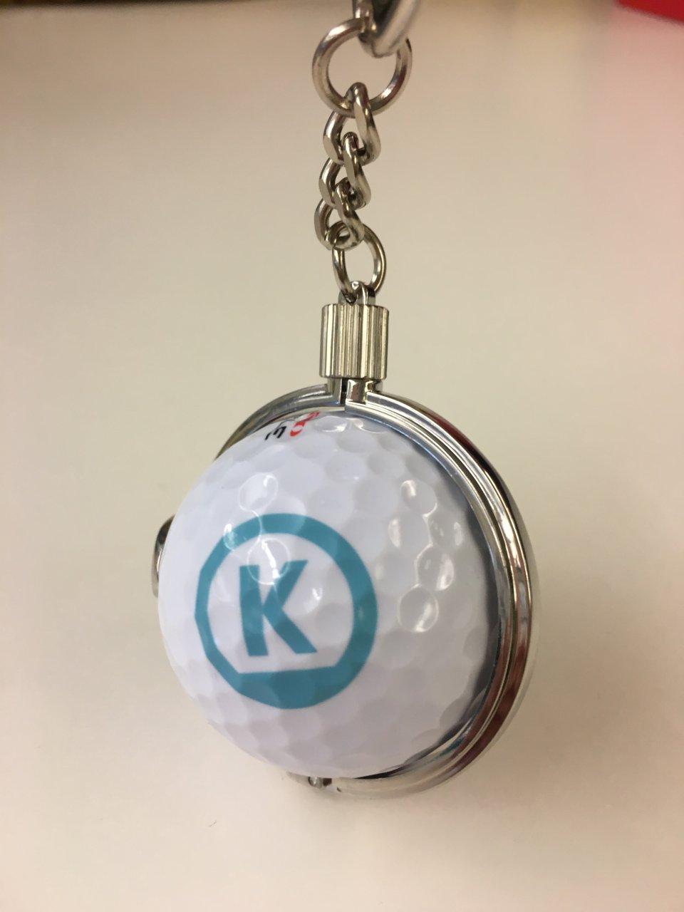 sleutelhanger golfbal