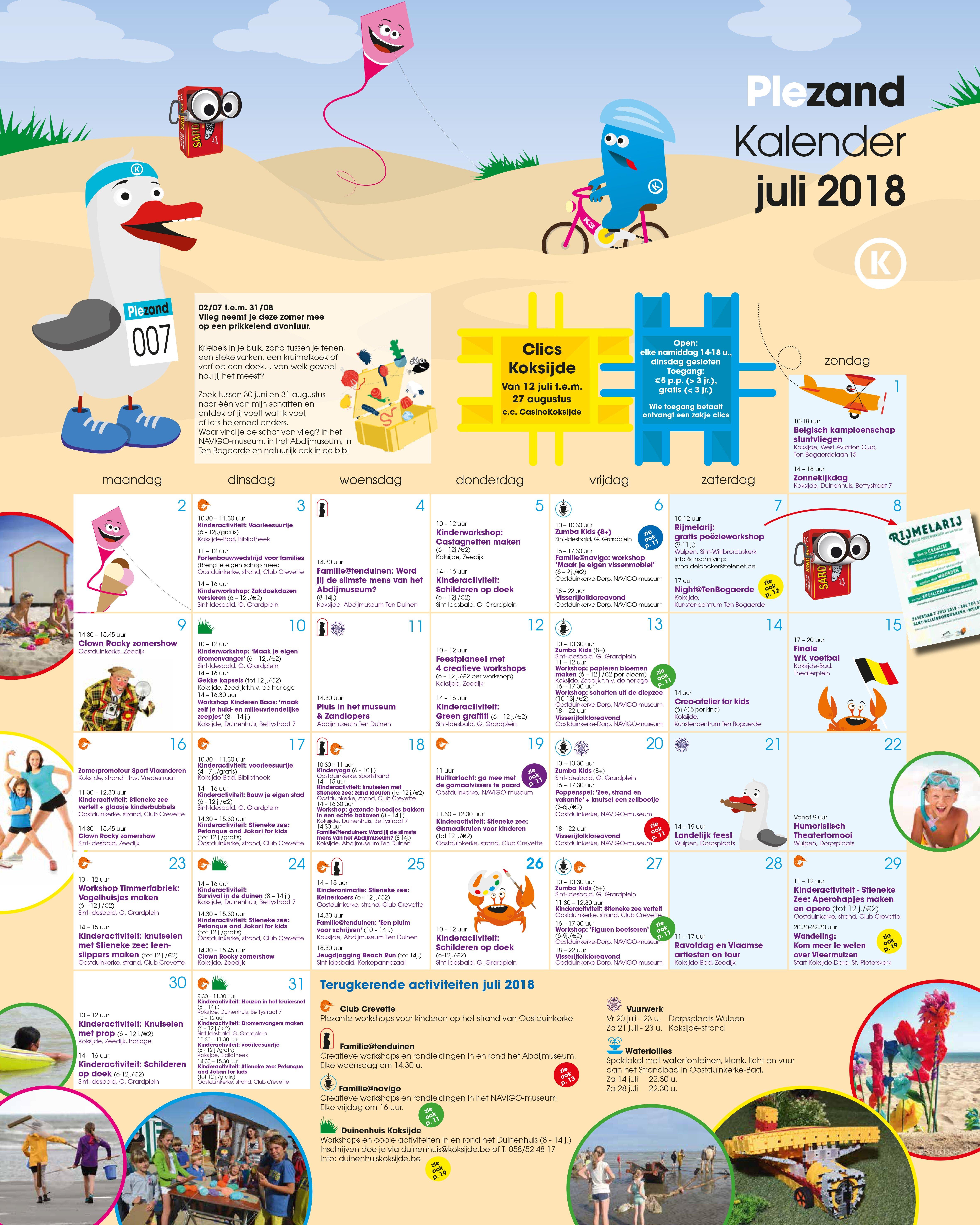wat te doen 11 juli